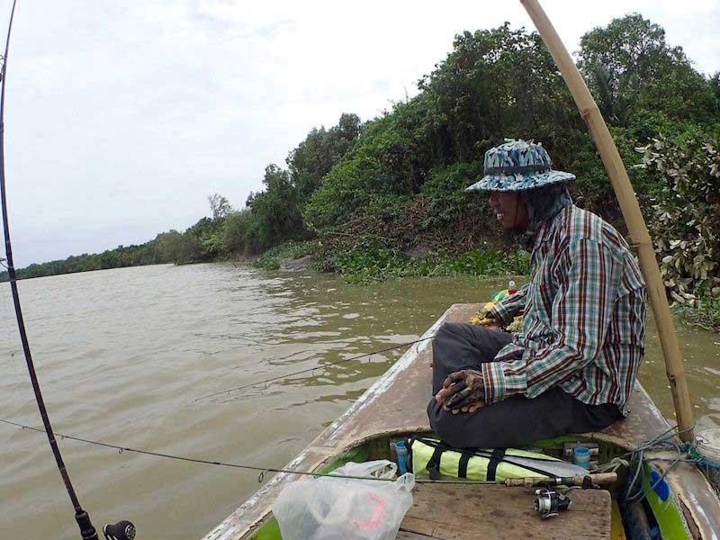 バンパコン川 テナガエビ 竿