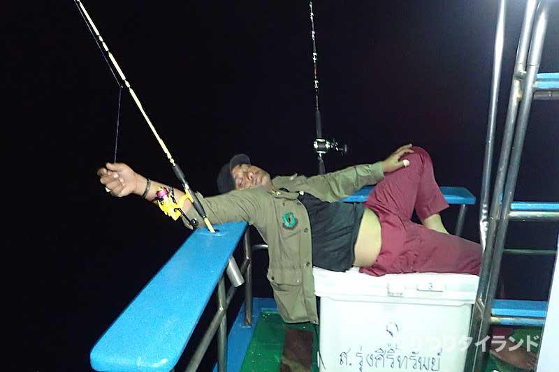 シミラン 夜釣り タイの釣り