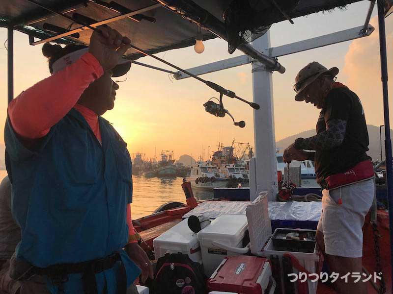シーチャン島 船釣り 準備