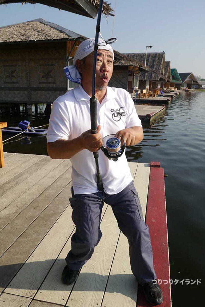 メコンオオナマズ 釣り ブンサムラン