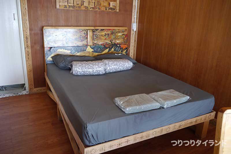 bungsamranのバンガローのベッド