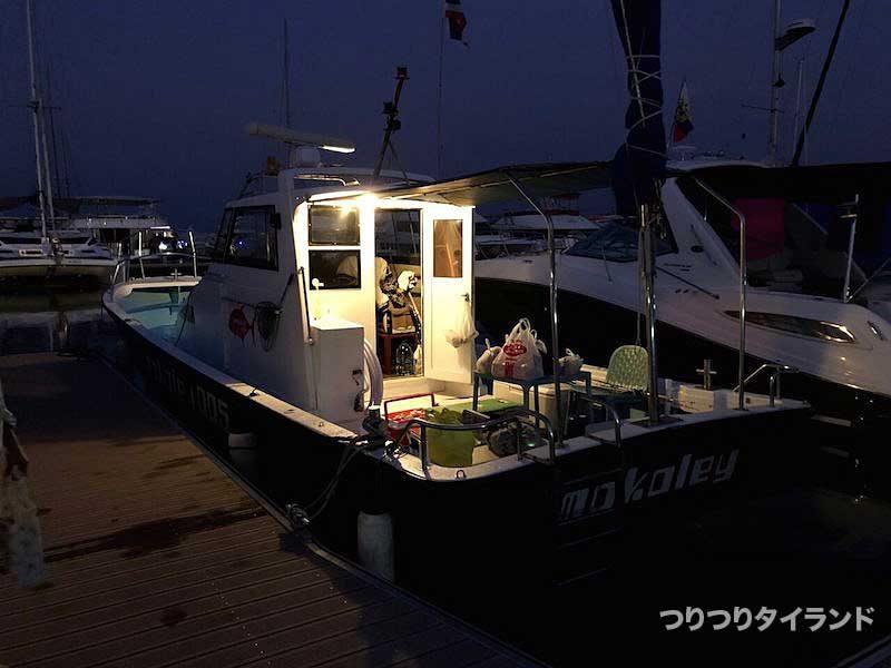 モコリー号 釣り