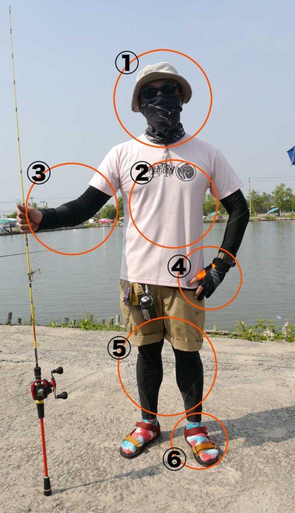 タイ 釣り ウェア 服装