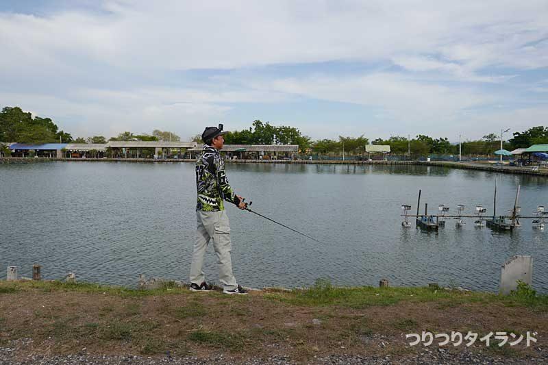 昼間に釣るタクちゃん