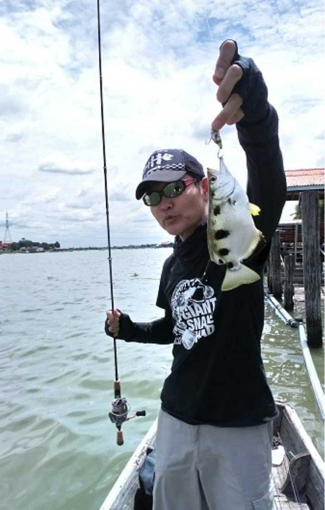 チャオプラヤ川 鉄砲魚 サイズアップ
