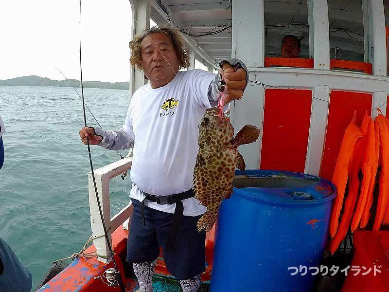 コウちゃん カンモンハタ タイラバで釣る