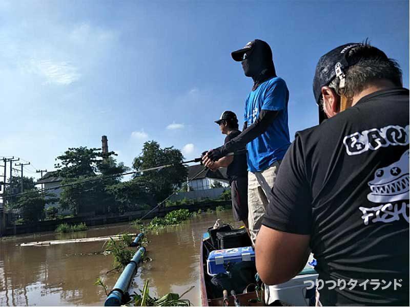 チャオプラヤ川で釣る
