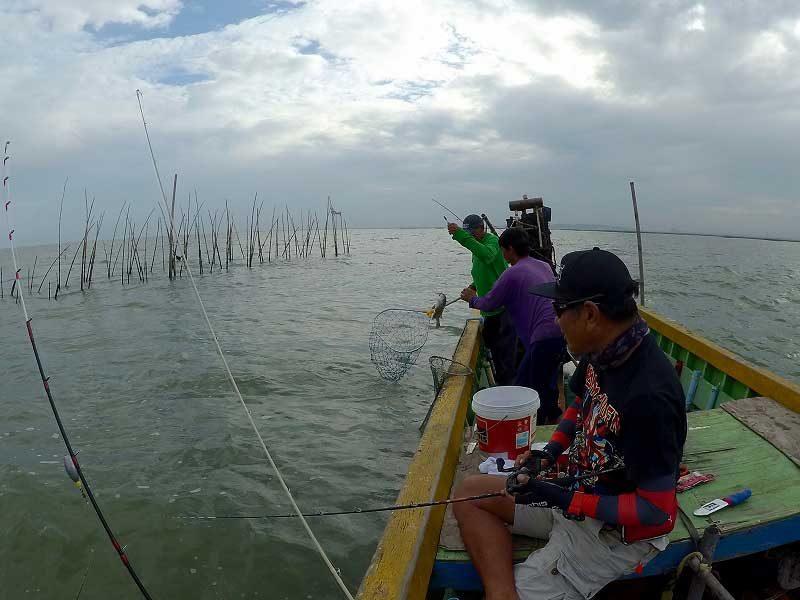 バンサイの船からチヌ釣り