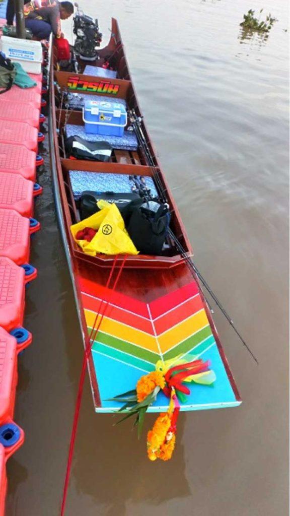 チャオプラヤ川の釣船