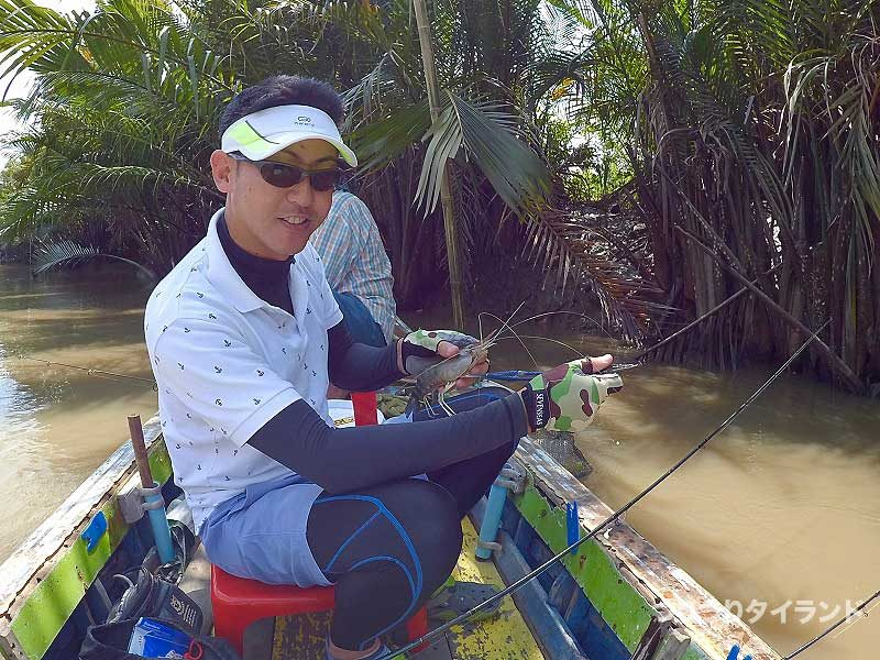 オニテナガエビを釣ったドツボ