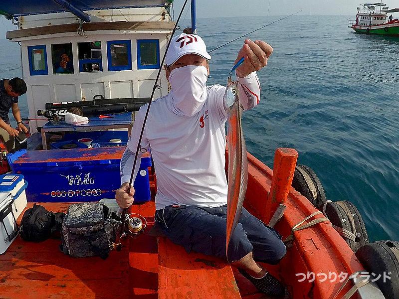タイで釣れた太刀魚
