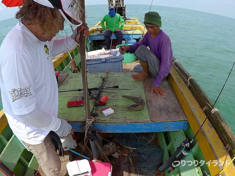 海ナマズを釣ったコウちゃん
