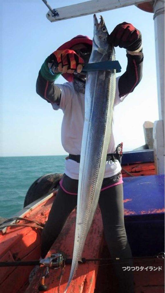 大型の太刀魚 タチウオ