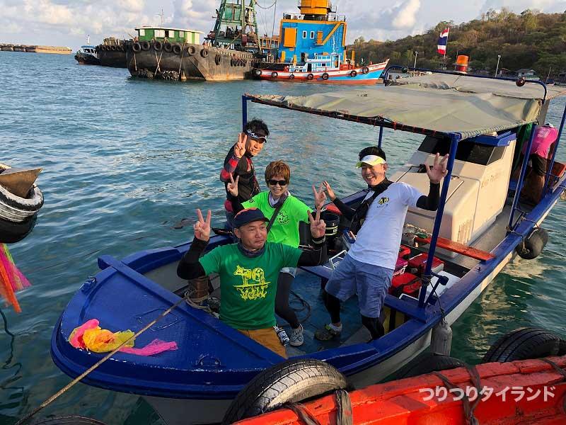 カーム島で記念撮影