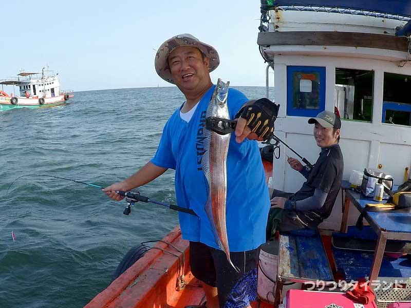 隊長が釣った太刀魚
