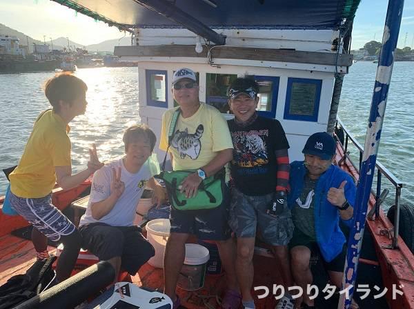 タイランド 船釣り メンバー