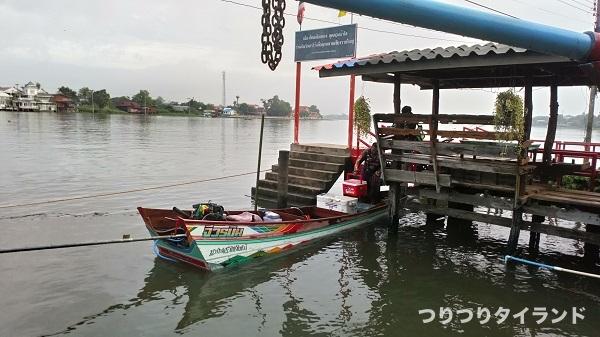 チャオプラヤ川の船長宅