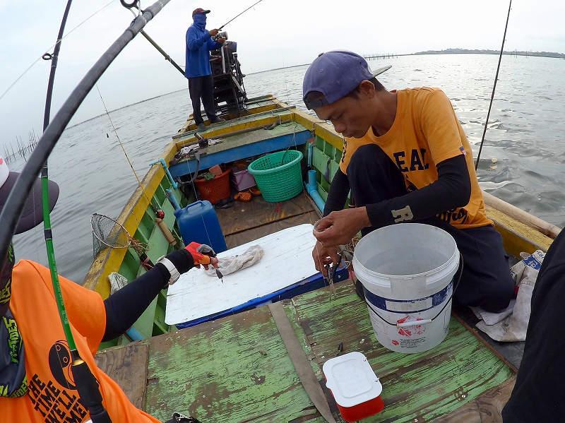 ブン 海毛虫の刺し方