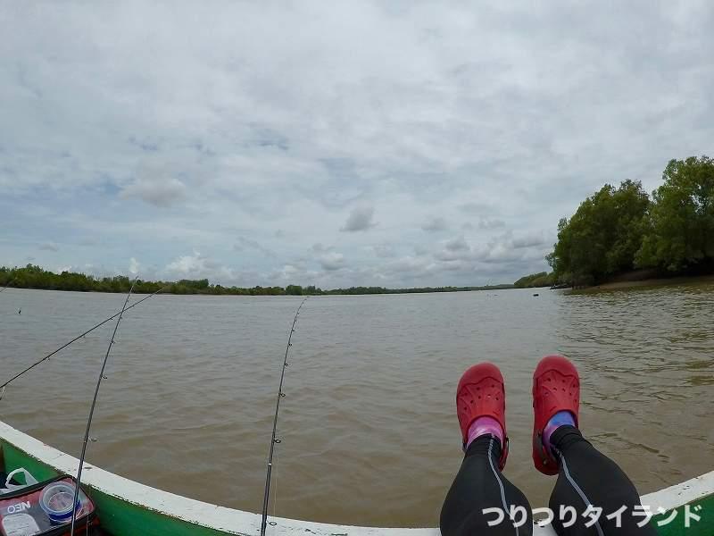 バンパコン川 置き竿