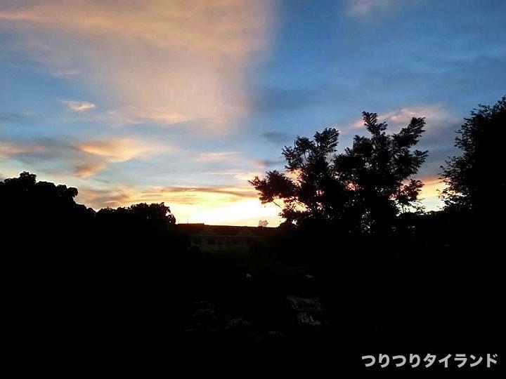 バンサレーの夕日