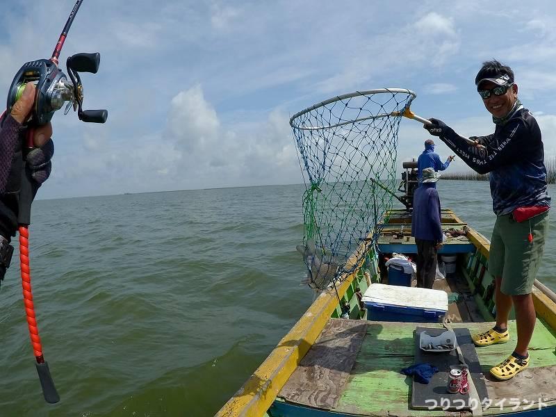 タイ王国 チヌ 釣った