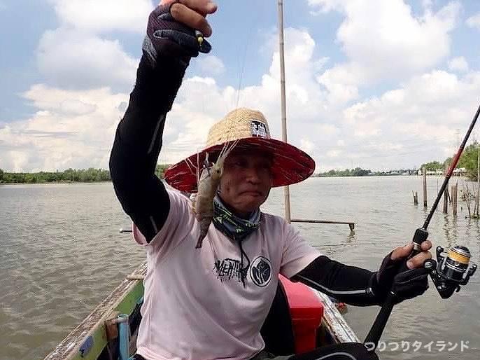 バンパコン川のテナガエビを釣ったテッチャン