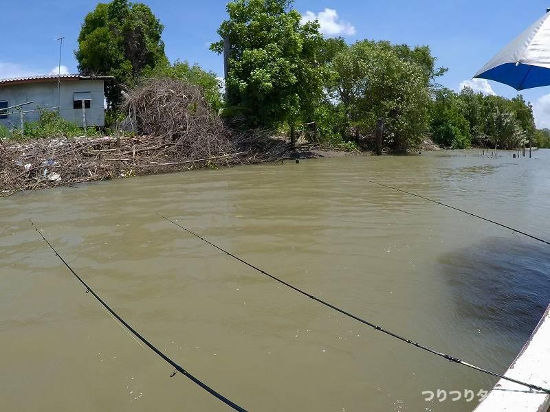 バンパコン川 エビ釣り 竿