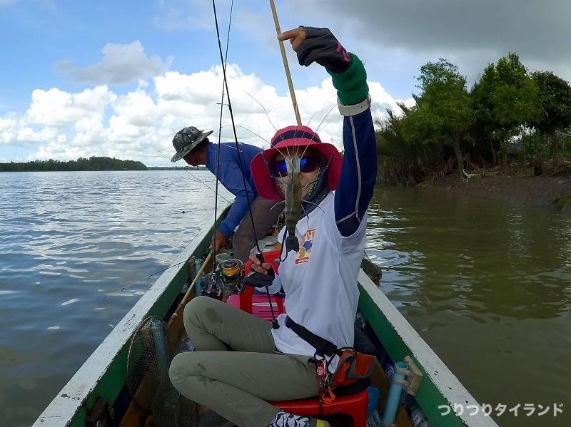 バンパコン川 エビ釣り やっちゃん