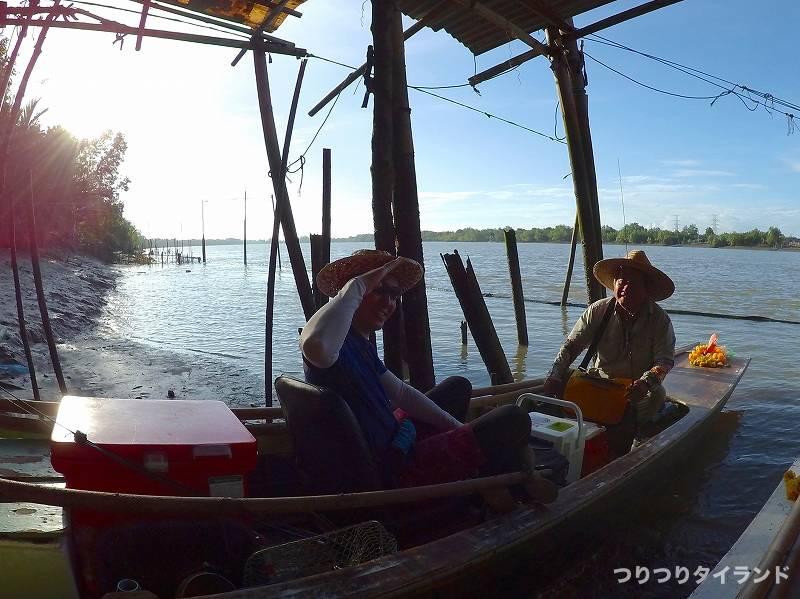 バンパコン川 エビ釣り 出船