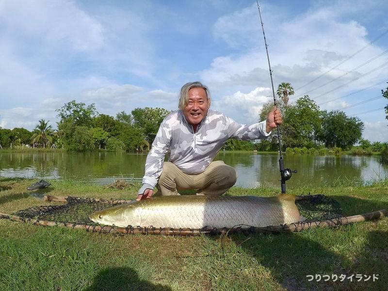 ピラルクを釣ったコウちゃん AmazonBKK