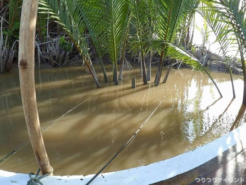 バンパコン川 エビ釣りポイント